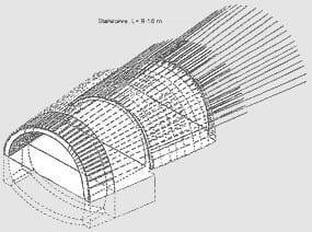 SISTEME DE PRESUSTINERE – metoda arcului de sustinere umbrella