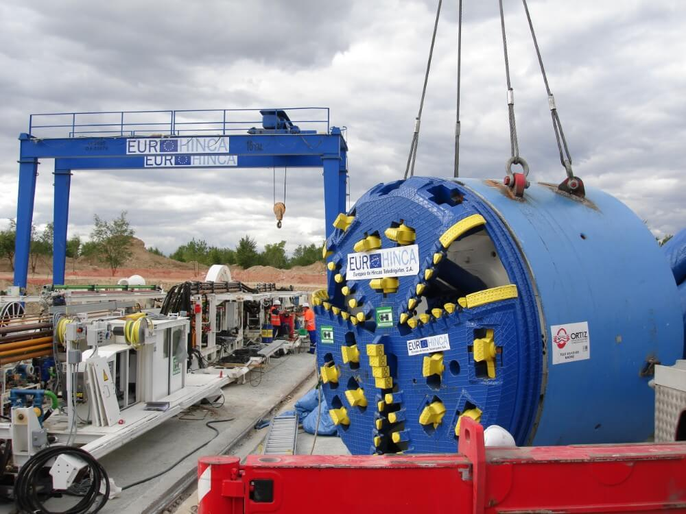 Tunneling - T B M  is the abbrevation of Tunnel Boring Machine